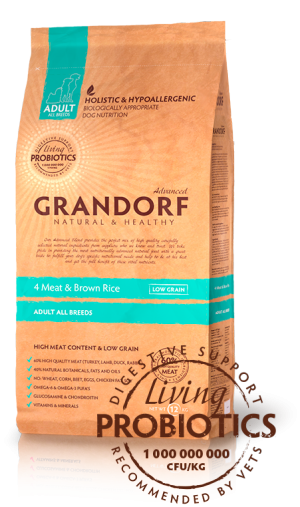 Grandorf All Breeds PROBIOTIC 4 meat Сухой корм для собак всех пород 4 вида мяса