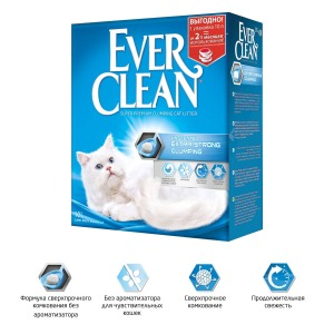 Ever Clean Extra Strong Clumping Unscented комкующийся наполнитель без ароматизатора